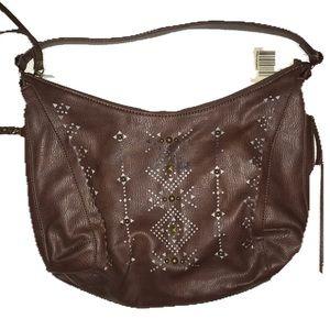 Lucky Brand Laser Cut Multi-pocketed Hobo Bag